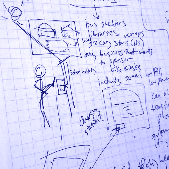 Sketching physical installation