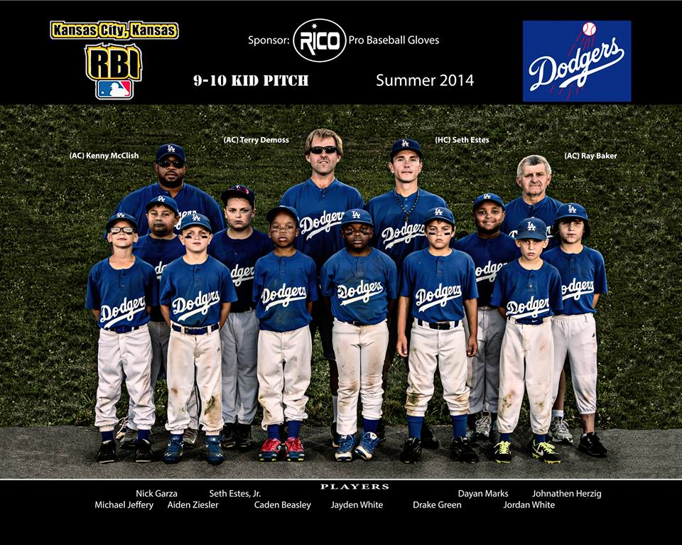 "Team and Individual photos are a specialty item and are priced on volume. Because of the diversity and some financial burdens that sports leagues contend with, we have very special pricing for our community's families. We price by the team to relieve some of the pressure that parents may be faced with to finance sports on a limited budget. See our team prices below.   We went with a gritty look for the 2014 Dodgers. We had the team ""go get filthy"" before the shoot. We will be glad to tailor your team photo to your team style... traditional, gritty, casual, or something unique. We can also stylize the entire league if needed to create a ""league look""! note: A Team includes up to 16 players and coaches Teams with multiple age groups may be charged separately. Players may be photographed with multiple age groups."