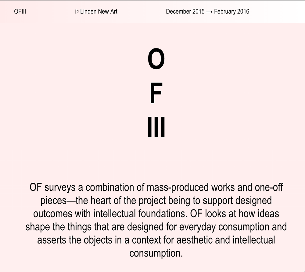 May 2015 | Object Future | Upcoming Exhibition