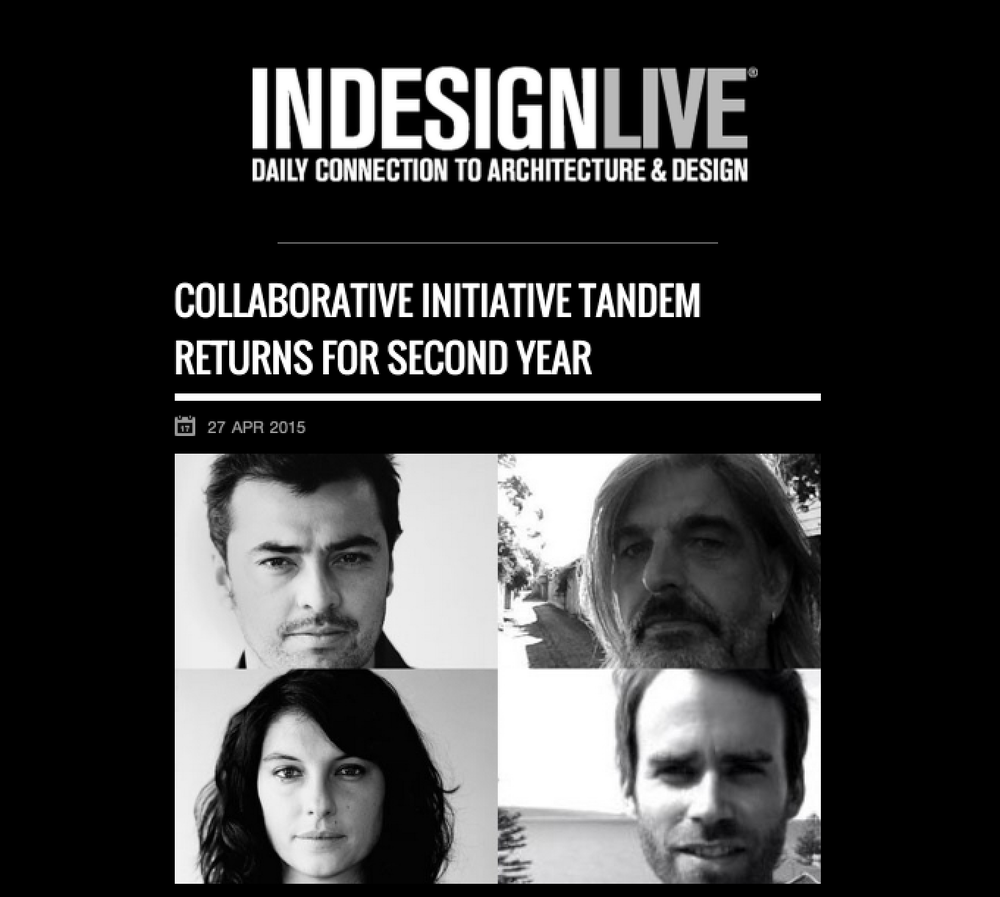 May 2015 | Indesign Live | The Tandem Project
