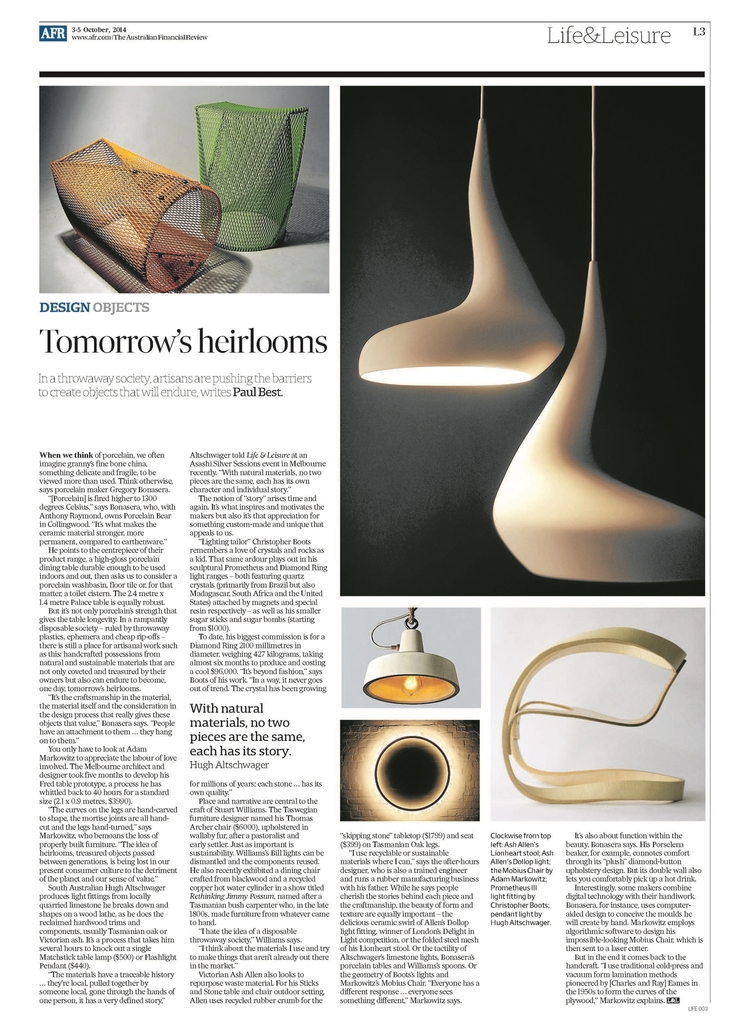 October 2014 | Financial Review | Tomorrow's Heirlooms