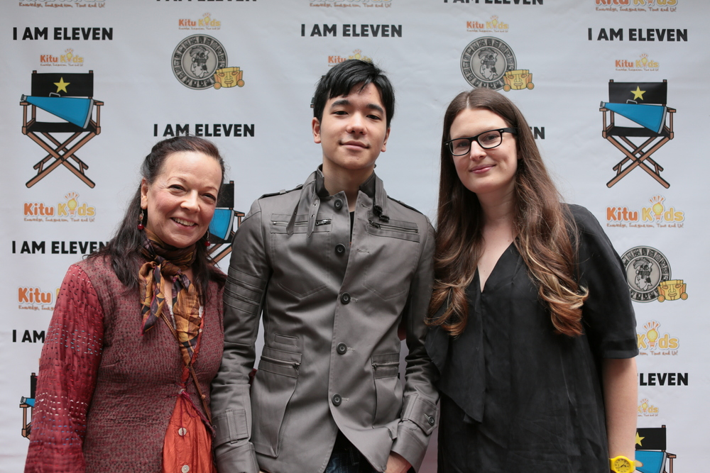 You might recognise this young man who is not 11 anymore! This is Oliver, his proud mom Karen, and filmmaker Genevieve Bailey at a screening in New York City. Oliver was just about to watch I AM ELEVEN for the first time. Always a pleasure to be reunited with the 'kids'!