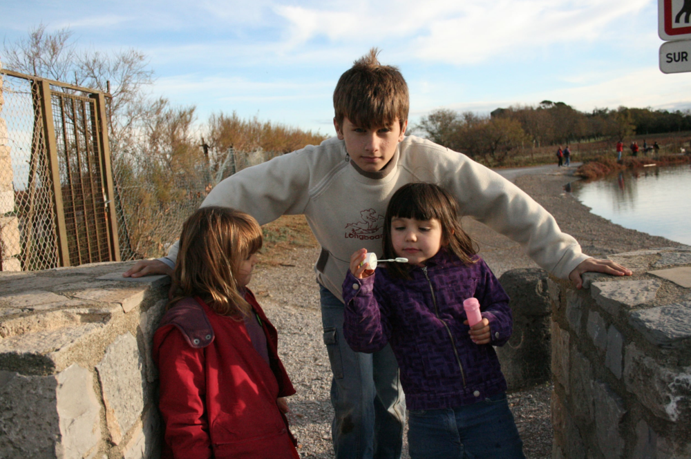 Remi and his sisters in France