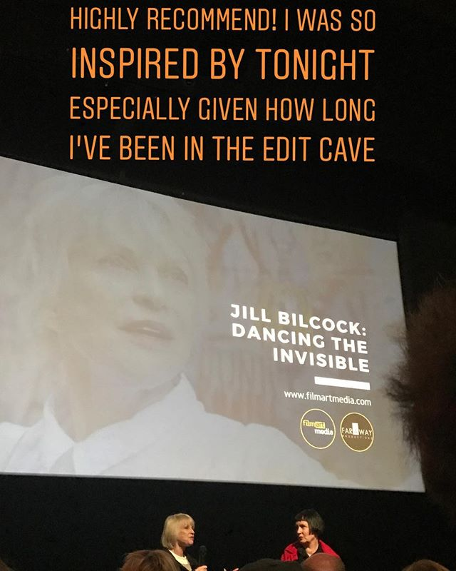'Dancing the Invisible' is a great film about legendary film editor Jill Bilcock! What a wonderful documentary to see after many moons in the edit suite for my new documentary @happysadfilm which is nearly finished! Please follow if you would like to keep up to date with news about this project which explores happiness and sadness through the eyes of men.