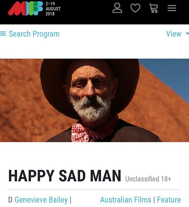 Secret is OUT! 😍 So delighted to let you know that the world premiere of Happy Sad Man will be at @melbfilmfest Sunday August 12! Follow us here @happysadfilm