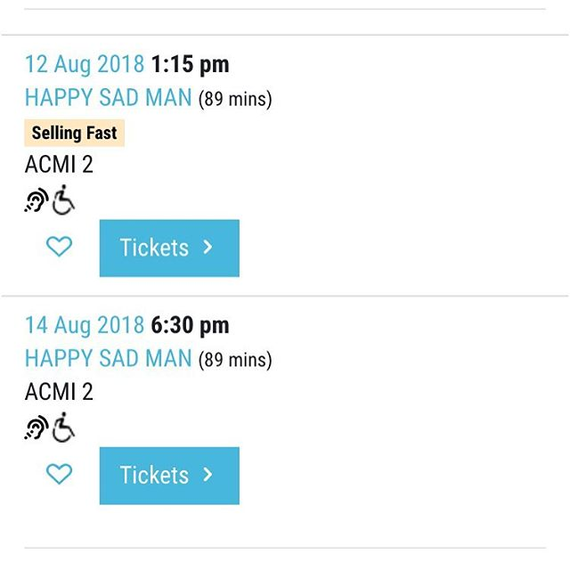 NEW FILM - tickets are selling fast to the world premiere of Happy Sad Man at @melbfilmfest so please book soon to avoid missing out on @happysadfilm #miff2018 #miff18 #happysadman