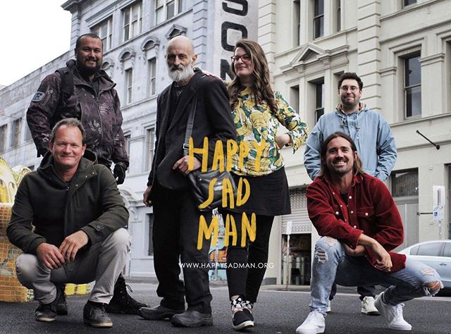 It's pretty hard to describe how I feel right now, the eve before our new film Happy Sad Man is born. I think you can tell from these smiles that we are ready Please follow us here @happysadfilm ❤️ Missing from this photo taken today is Ivan, but he will be there with bells ( and a cowboy hat) on tomorrow at @melbfilmfest ! 📷By Aaron Wilson