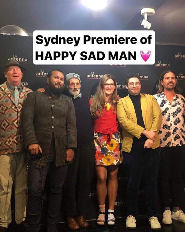 What a fun night! Our new film Happy Sad Man premiered in Sydney. Next stop Byron Bay tonight then Adelaide Film Festival next week. Please tag your mates there. All info on www.happysadman.org #happysadman