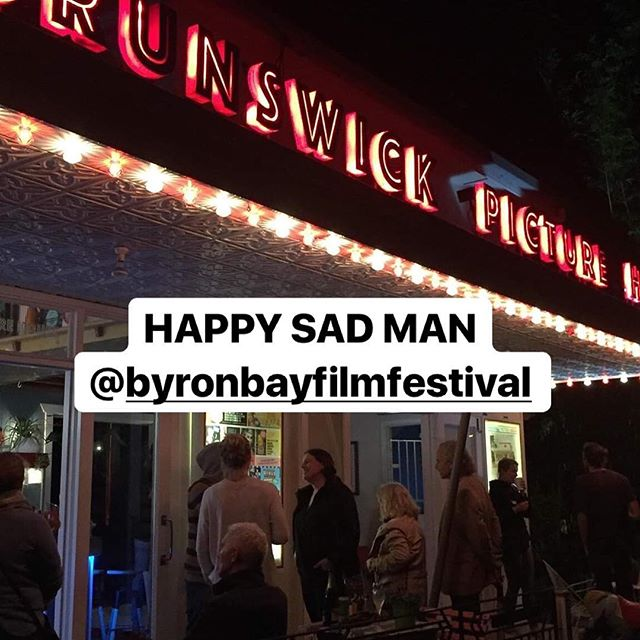 What a night ! Thanks to everyone who made our @byronbayfilmfestival screening of @happysadfilm so special. Your feedback will stay with us forever. ❤️ Next stop is @adlfilmfest October 18 and 21! Know anyone in #Adelaide ? Please invite them. All info on our website www.happysadman.org