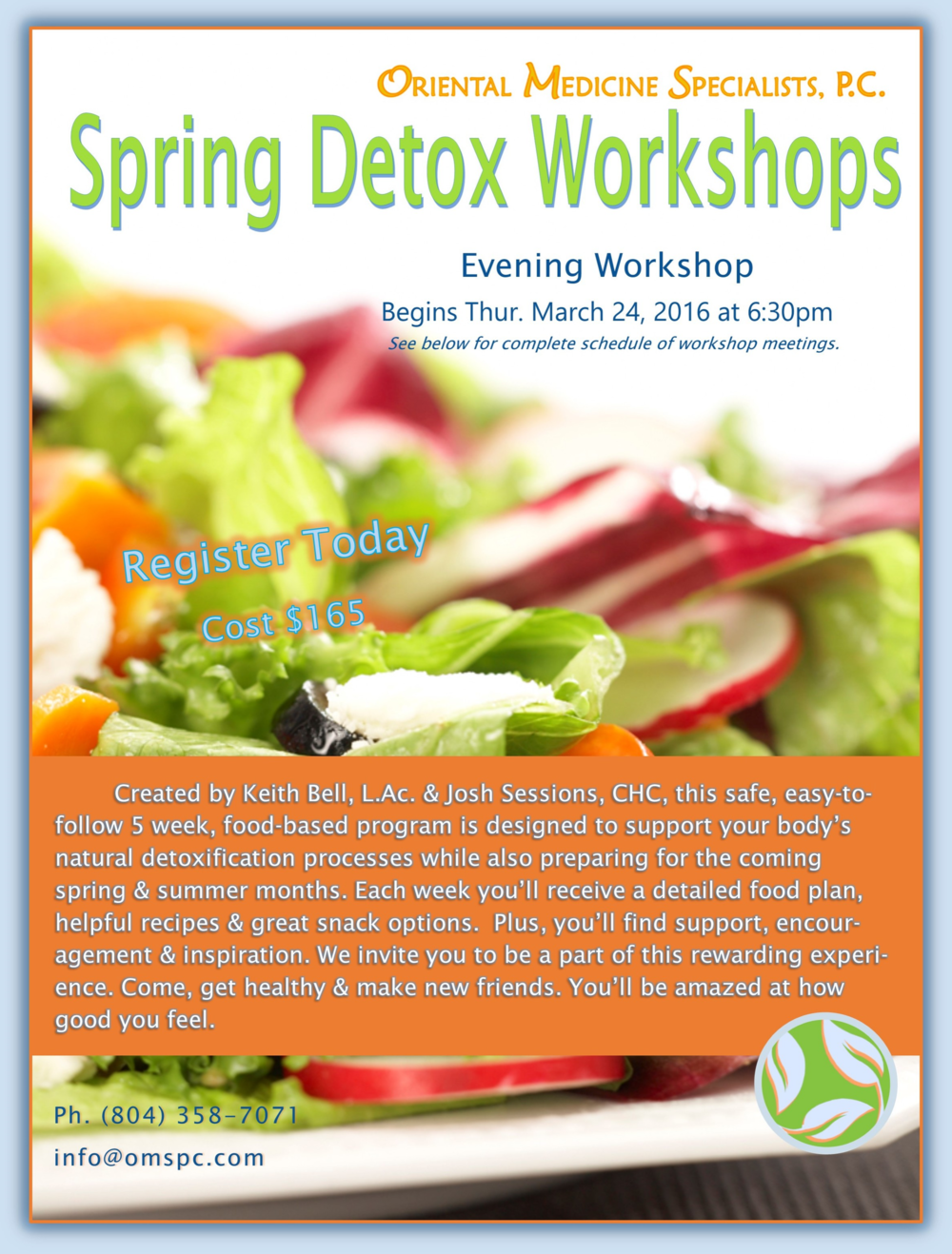 Learn more about our Spring Detox Program Here.
