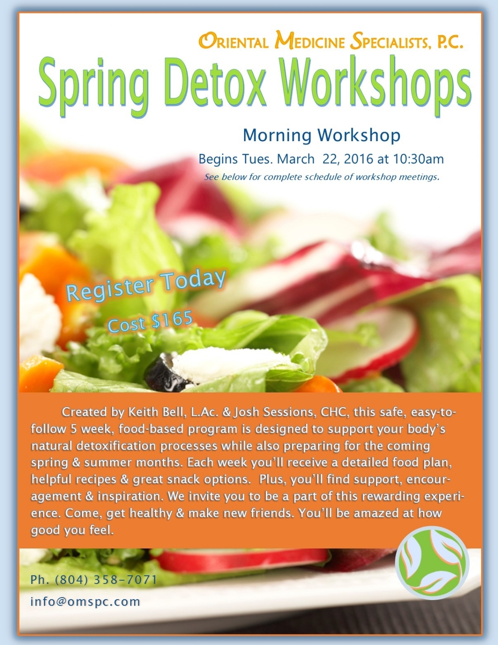 Learn more about our  Spring Detox Program Here .