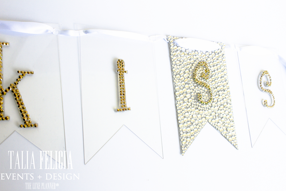 swarovski crystal embellished banners KISS- we can customize!