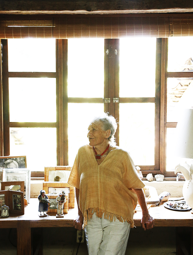Diana Kennedy at her home in Michoacan, Mexico.