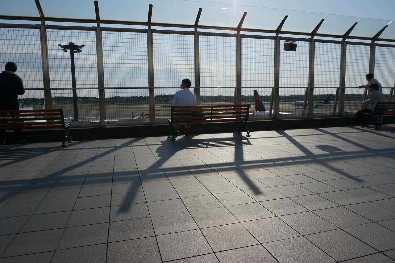 Observation deck at Narita airport.