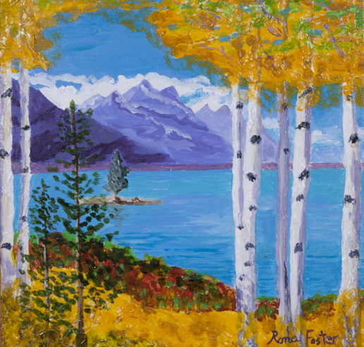 Aspens by the Lake