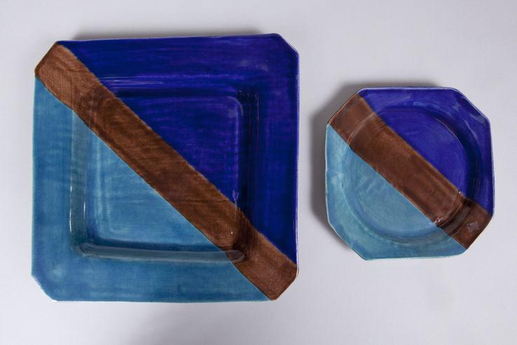 Blue & Turquoise plates