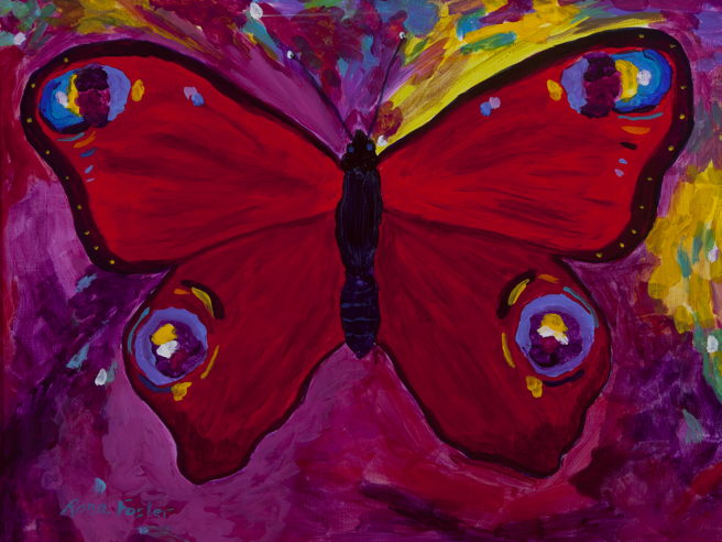 Flaming Red Butterfly