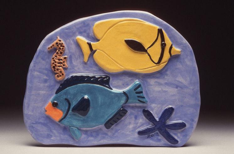 Yellow & Teal Fish