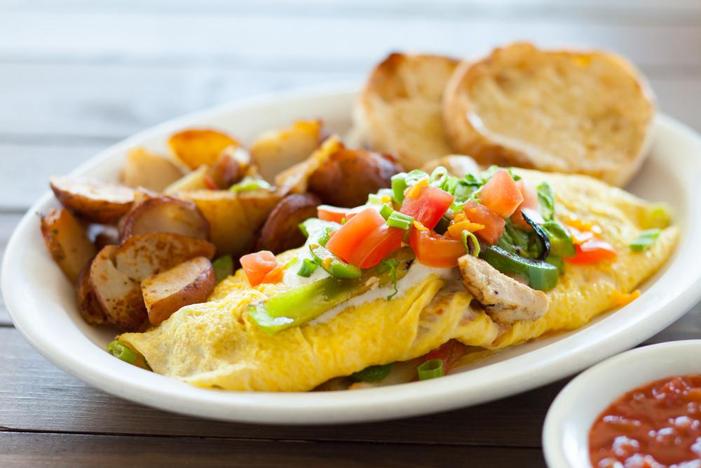 Fajita Omelette & Country Potatoes