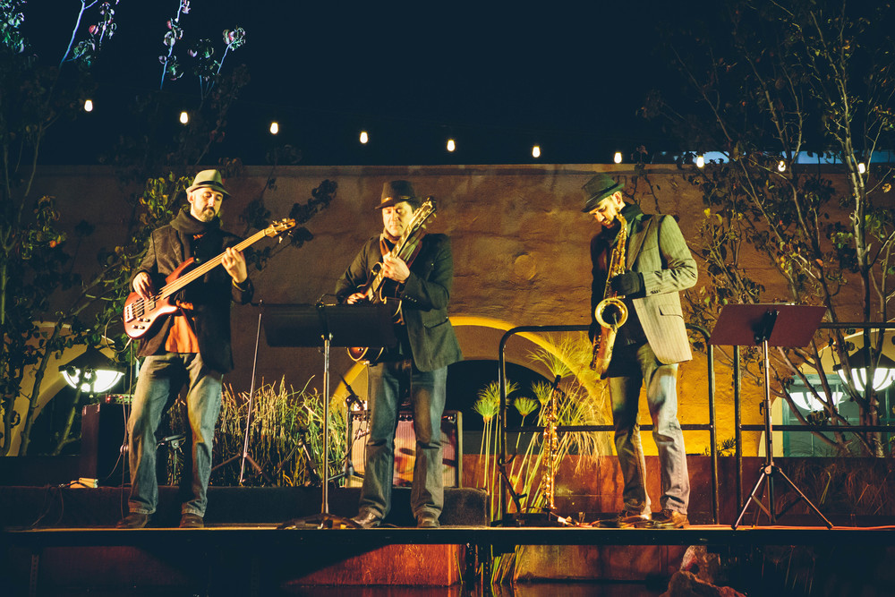 Performing at Stone Brewery's New Year's Eve Celebration.