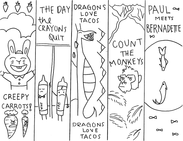 2015-2016 Primary Nominee Bookmarks by Daniella T