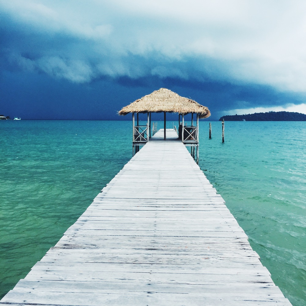 A mid afternoon storm on Koh Rong Samloem