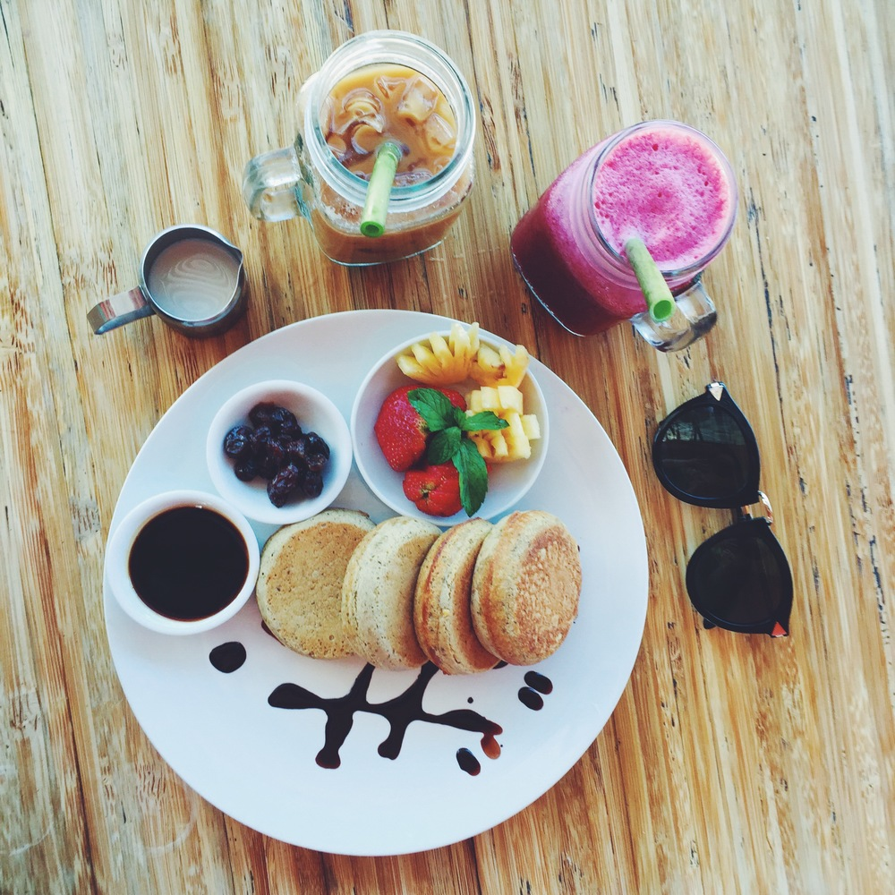 Buckwheat pancakes from Down To Earth in Ubud