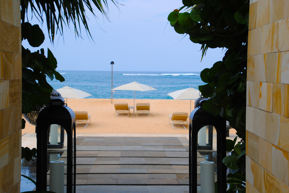 Beach views from the Cabanas