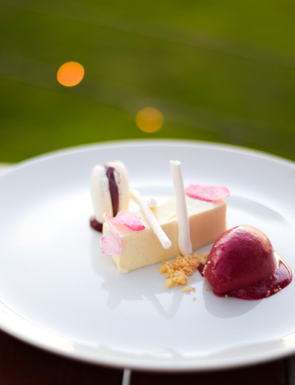 Dessert at Sault restaurant, Daylesford