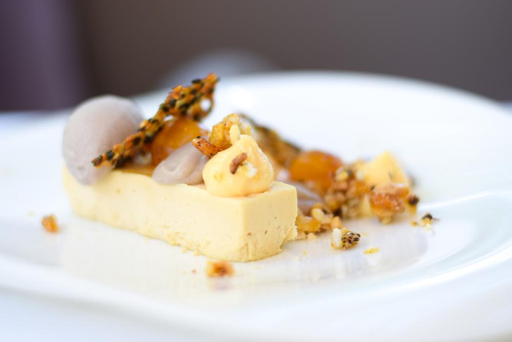 Banana, peanut butter and black sesame dessert at Lakehouse Daylesford
