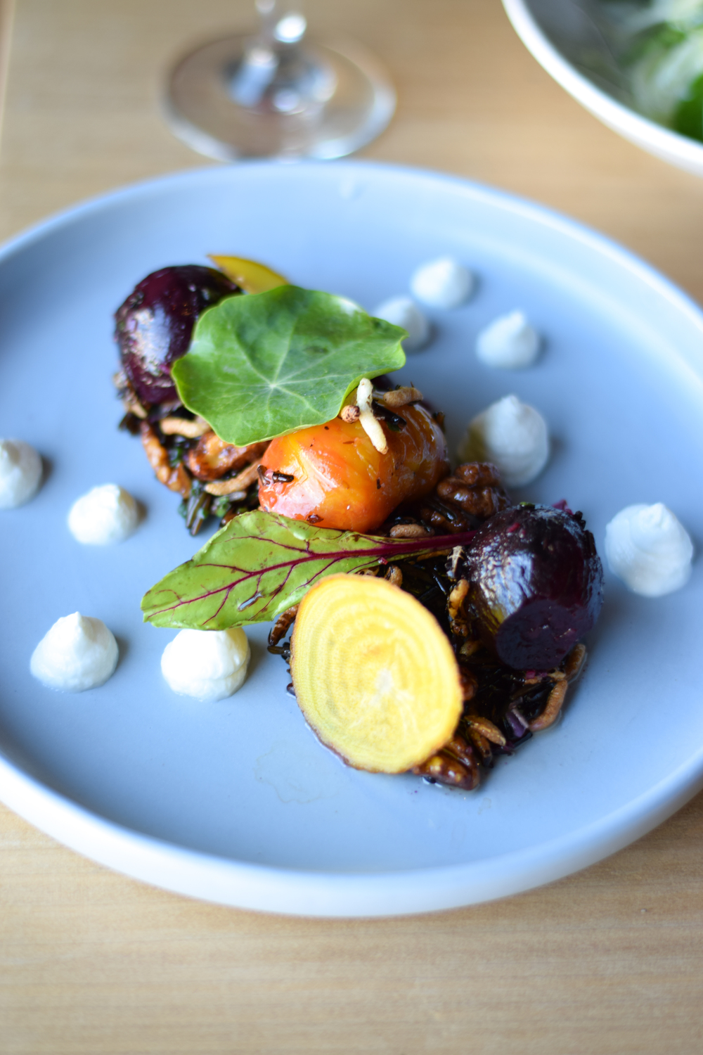 Vegetarian offerings at Belvedere Social, Daylesford