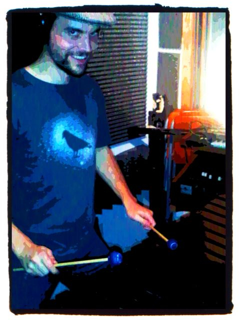 Robin Layne is a good friend and wizard on the marimba, vibraphone, congas, and all sorts percussion. We worked together on a couple tracks on my first album. I'm psyched to work with him again tonight on 'Not So Farfetched'.