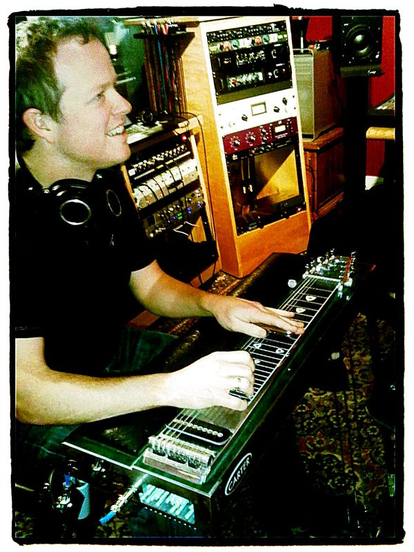 From the pedal steel session with the incomparable Steve Dawson recording on Leaving Samsara and Brother back in December.