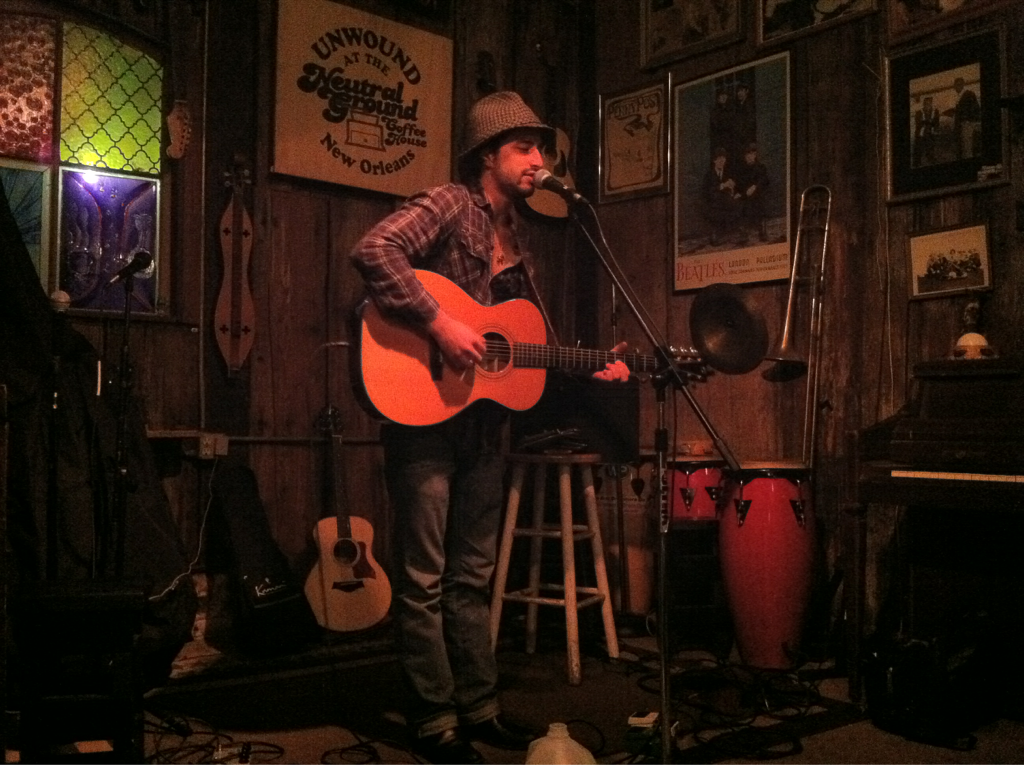 Phil Minissale's set at Neutral Ground, New Orleans. Sweet place, great crowd.