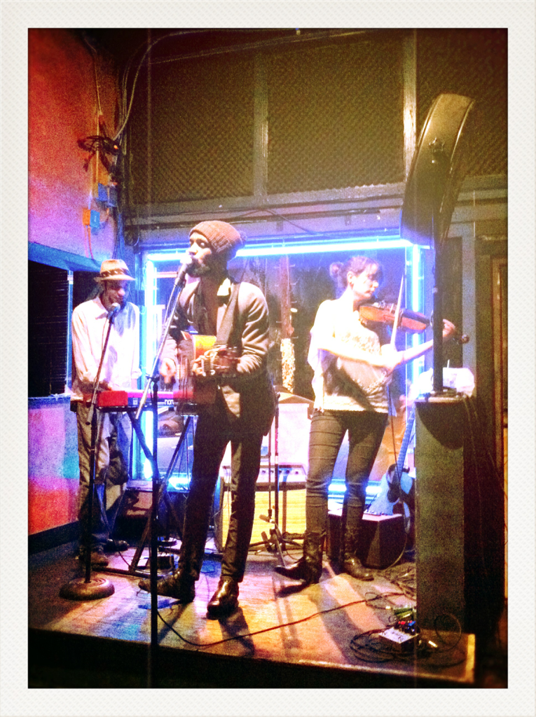 Our new buddies Micah McKee & the Little Machine at the Blue Nile in New Orleans.