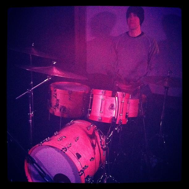 Sam Cartwright on his nesting drum kit (Taken with instagram)