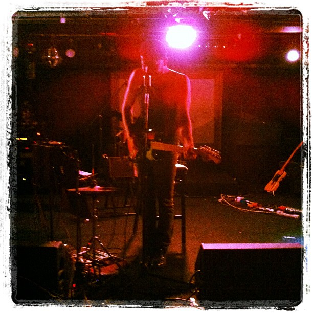 The Tailor soundchecking at the Biltmore (Taken with  instagram )