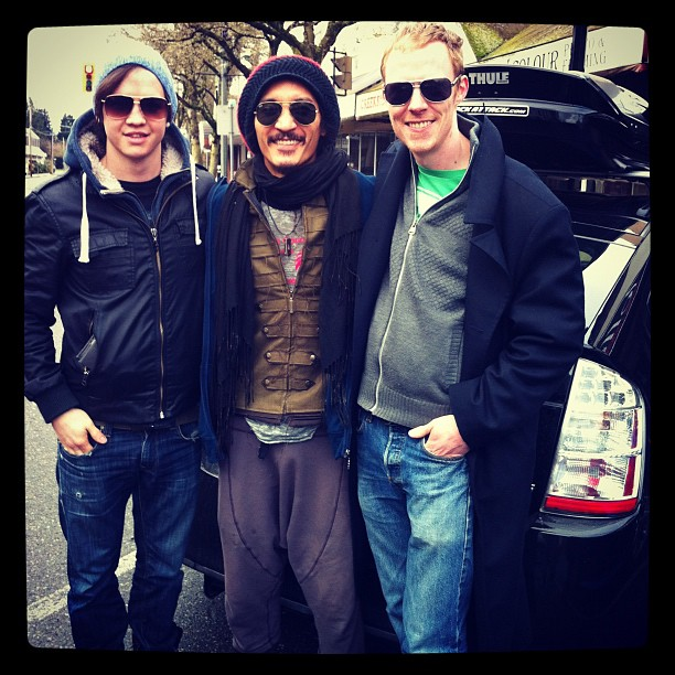 Michael Rush, Adam Parent and me (Taken with  instagram )