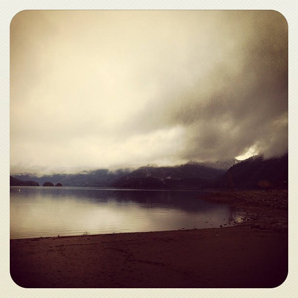 Morning at Harrison Hot Springs. Woke up early to go to Inner Vision to teach a yoga workshop. (Taken with  instagram )