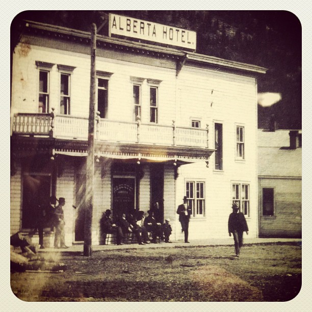 Us hanging out in Blairmore, Alberta…. In 1908 (Taken with instagram)