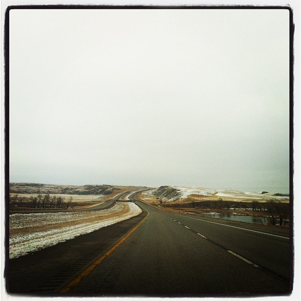On our way to Lethbridge for our show at the Acoustic Owl (Taken with  instagram )