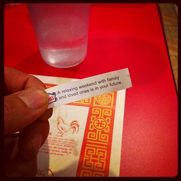Szechuan Kitchen Fortune Cookie (Taken with instagram)