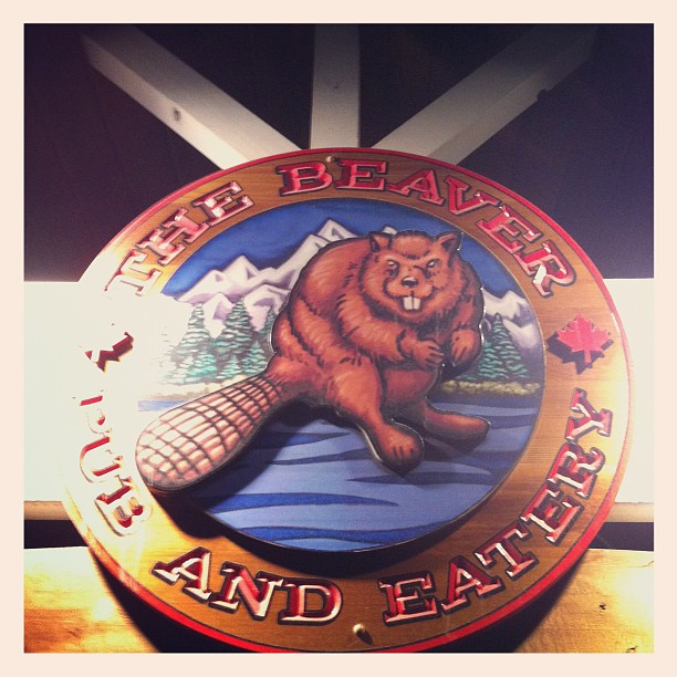 At the Beaver Bar Banff, AB (Taken with  instagram )