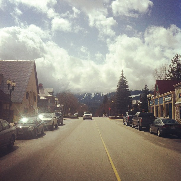 Downtown Revelstoke, after breakfast at the Modern. (Taken with instagram)