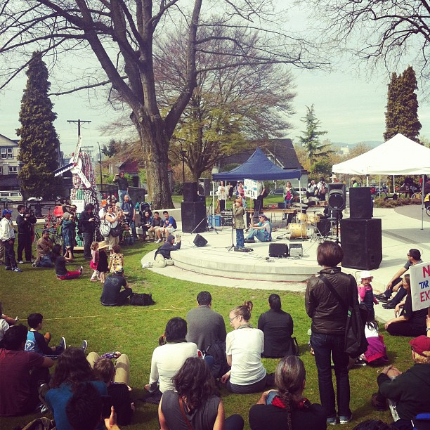 Ta'Kaiya Blaney playing at Earth Day in Grandview Park, Vancouver (Taken with  instagram )