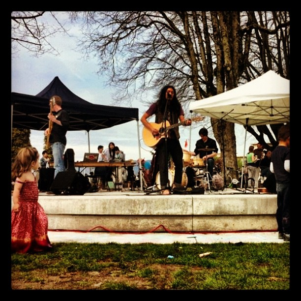 Our final show of our tour at Grandview Park Y4CJN Earth Day celebrations (Taken with  instagram )