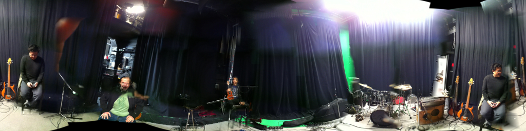Getting ready to record with Brian Minato, Jason Kechely and Sam Cartwright at Stone Canyon. In order to see this image in 360 view, click on the link below. 360 View: http://360.io/JQWBnG