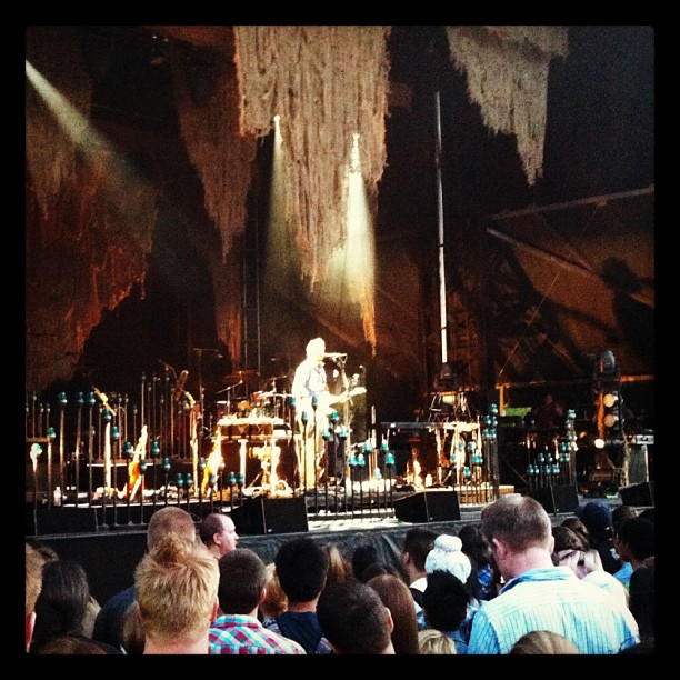 Bon Iver solo set at Deer Lake Park. Sublime. (Taken with  instagram )