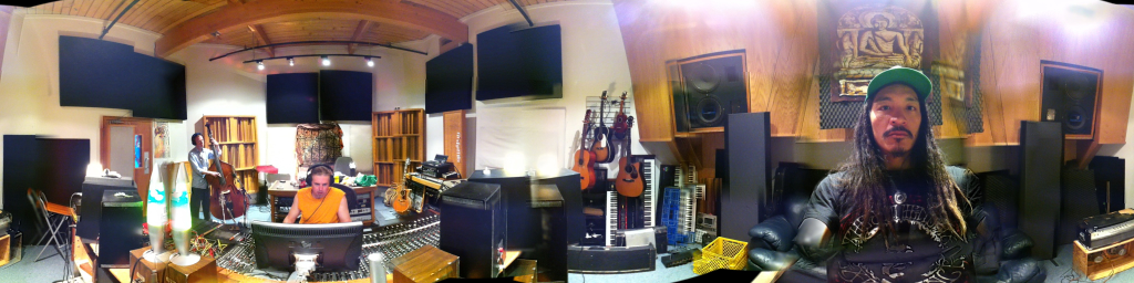 For the 360 view visit http://360.io/cZkDdW Michael Rush, Jason Kechely and I at Profile studio earlier this week recording upright bass for Miss Sugar Love. All the drum and bass tracks have been laid down, now for ukelele, keys, electric guitar, vocals, etc. The new ep features Reggae, Motown, and Roots Americana.