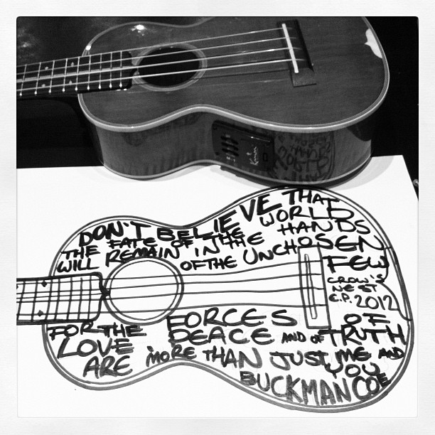 tee-shirt ukelele lyric design idea #1 'Kingdom Come' (Taken with Instagram)